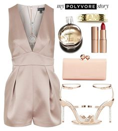 """Untitled #1351"" by littledeath11 ❤ liked on Polyvore featuring Topshop, Sophia Webster, Ted Baker, Blue Nile, Chanel and Charlotte Tilbury"