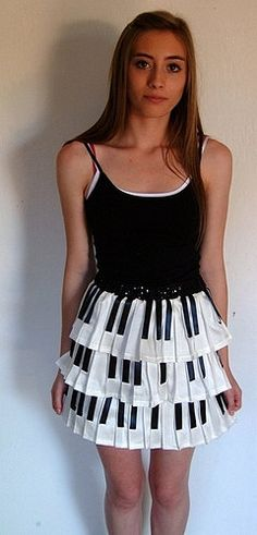 10) A musical instrument you play or would like to play  -  piano.  I don't play never will but I guess I could wear one.