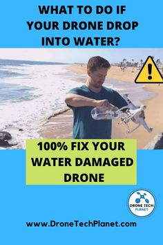 o if you see your drone drown in the water, don't jump into the water to save it under any price if it can endanger your life, because that's just a bunch of electronics. Find out how to fix it!