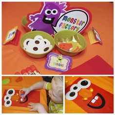 Make your own monster bags! The kids get to decorate their own bags and then use them to put in pinata candy and any other take home favors! I love multi-use items!