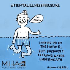 #mentalillnessfeelslike ... for Mental Health America…