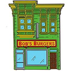 Amazon.com: Bob's Burgers Enamel Pin - Storefront: Clothing