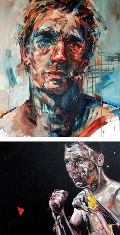 Portraits by Andrew Salgado New portraits from Andrew Salgado.New portraits from Andrew Salgado. Painting Of Girl, Figure Painting, Abstract Portrait Painting, Painting People, Painting Canvas, Canvas Art, Tattoo Men Small, Jenny Saville, Illustration Arte