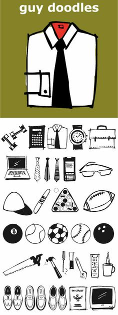 Fun, illustrations of guy stuff. Goes well with Diva Doodles, Diva Doodles Too and Baby Doodles. Great for scrap booking or making a Father's Day card.