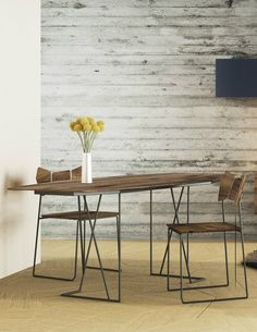 Steel and wood living room #table KINOKI by Lago | #design Setsu & Shinobu Ito @lagofurniture