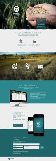 Sementes Rastreadas - Designer - Vinícius Costa / Portfólio web design