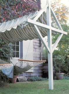 Canopy clothesline with hammock added (Martha Stewart Living - April 2000)