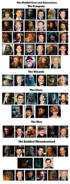 The Hobbit Cast and Characters! Benedict cumberbatch actually played Sauron or the necromancer in the hobbit and smaug! Legolas, Gandalf, Jrr Tolkien, Hobbit Hole, The Hobbit, Into The West, Geek Out, Middle Earth, Lord Of The Rings