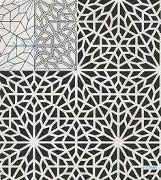 geometric patterns by evangelina Geometric Patterns, Geometric Designs, Geometric Art, Textures Patterns, Islamic Art Pattern, Arabic Pattern, Pattern Art, Pattern Design, Arabesque