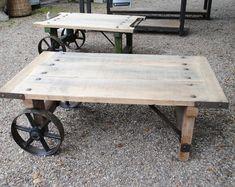 Industrial Coffee Table Reclaimed Wood