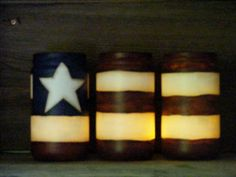 Americana Glass Luminaries by theprimplace on Etsy
