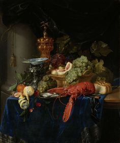 Rijksmuseum Inspiration for Masha Reva: Golden age  dress - Still life with golden bowl, Pieter de Ring, 1640 - 1660