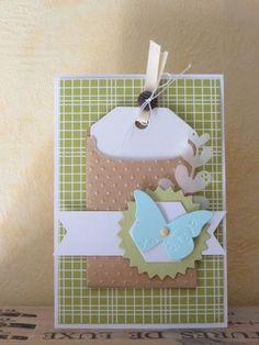 Pour les consignes proposées par Pimprenelle sur Little scrap : du calque, un brad, des carrés. Lift de Nounou.
