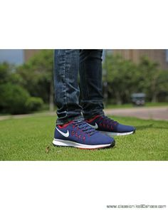 35e517153e5d7 Nike Air Zoom Pegasus 34 Mens Blue White Red Black Shoe Discount Online