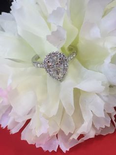 Pear heaven!! A pear halo surrounding a pear cut diamond center stone! An amazing custom made engagement ring