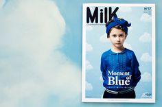 Our wallpaper Cotton Clouds in Milk Magazine <3