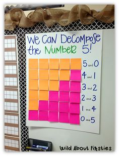 Wild About Firsties!: Fun with Decomposing Numbers!