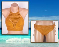 Crochet bikini Stretch Swimsuit Summer trends by LoveKnittings