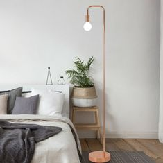 """Sykes Industrial 62"""" Arched Floor Lamp"""
