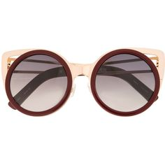 Linda Farrow Erdem 4 sunglasses (€600) ❤ liked on Polyvore featuring accessories, eyewear, sunglasses, red, red glasses, red sunglasses, linda farrow sunglasses, linda farrow eyewear and linda farrow glasses