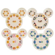 Disney Tsum Tsum Melamine Plate Set Disney Store Japan I hope these make it to the usa