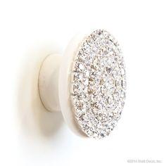 glamour knob knobs bling crystal