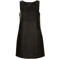 TOPSHOP Quilted Shift PU Dress