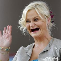 25 Pics of Celebrities Without Teeth ~ Hilarious & Creepy! – Team Jimmy Joe 25 Pics of Celebrities Without Teeth ~ Hilarious & Creepy! Amy Poehler ~ Celebrities Without Teeth Rn Humor, Nurse Humor, Teeth Health, Oral Health, Dental Health, Dental Care, Dental Humor, Amy Poehler, Teeth Care