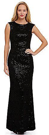 Eliza J Sequined Velvet Gown on shopstyle.com