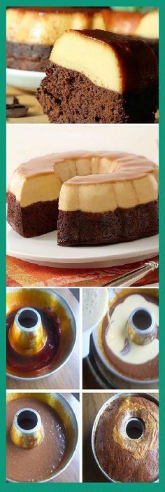 "Cómo preparar chocoflán o ""pastel imposible""  #receta #recipe #casero #torta #tartas #pastel #nestlecocina #bizcocho #bizcochuelo #tasty #cocina #cheescake #helados #gelatina #gelato #flan #budin #pudin #flanes #pan #masa #panfrances #panes #panettone #pantone #panetone #navidad #chocolate Si te gusta dinos HOLA y dale a Me Gusta MIREN..."