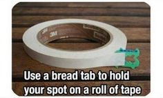 Better than folding over the end, or using a paperclip