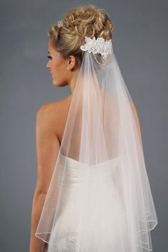 Gorgeous veil and hairpiece