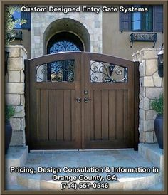 Custom driveway gates with automatic electric openers. Handmade ...