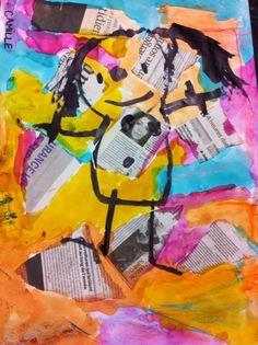Kindergarten Art, Preschool Art, Painting For Kids, Art For Kids, Gouache, Newspaper Art, Ecole Art, Creative Workshop, Fathers Day Crafts
