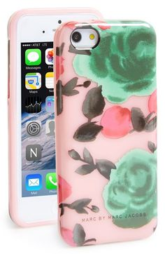 Free shipping and returns on MARC BY MARC JACOBS 'Jerrie Rose' iPhone 5c Case at Nordstrom.com. Art-pop saturated flowers bloom on a durable and flexible case designed to shield your iPhone 5c from scuffs and scratches. Iphone Decal, Iphone 5c Cases, Marc Jacobs, Pop Art, Bloom, Nordstrom, Rose, Creative, Accessories