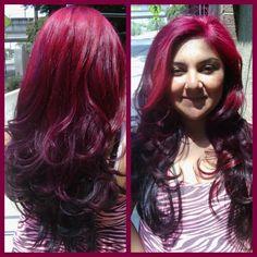 Love these colors! Color/Cut by Kat at Rockabettys Hair Parlor