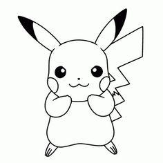 Dibujos Pikachu Para Dibujar Imprimir Colorear Y Recortar Facilmente Dibujo De Pikachu Dibujos Para Colorear Pokemon Colorear Pokemon