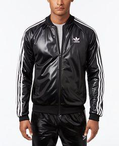 599fa95fe778 adidas Men s Originals Shiny Track Jacket   Reviews - Coats   Jackets - Men  - Macy s