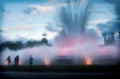 the Magic Fountain of Montjuic in Barcelona