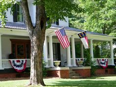 Front Porch Decorating Ideas - 4th of July