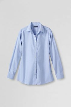 Work Uniforms  Women's Maternity Oxford Shirt from Lands' End