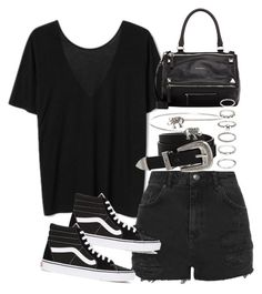 """""""Sin título #1845"""" by alx97 ❤ liked on Polyvore featuring Topshop, ASOS, Vans, Givenchy and Forever 21"""