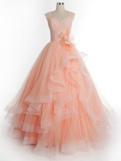 Princess Sweetheart Tulle Floor-length Appliques Lace Classy Prom Dresses #UKM02