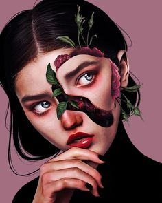 Laura H. Rubin is a digital artist and illustrator based in Bern, Switzerland. Lauren describes herself as a Visual FX Artist & Graphic Designer Digital Painting Tutorials, Digital Art Tutorial, Art Tutorials, Surealism Art, Art Sketches, Art Drawings, L'art Du Portrait, Surreal Artwork, Motifs Animal