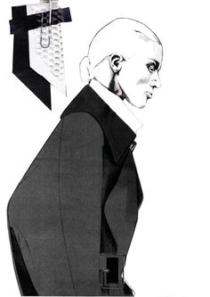 Fashion Sketchbook - fashion illustration & fabrics; graduate fashion portfolio // Andrew Voss