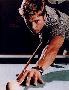 Brad Pitt shooting pool