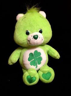 CARE BEARS IRISH GOOD LUCK St Patrick's Day Shamrock Plush Stuffed Animal Toy
