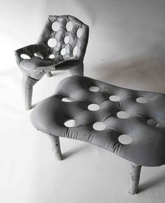 Concrete Furniture by Tejo Remy and Rene Veenhuizzen