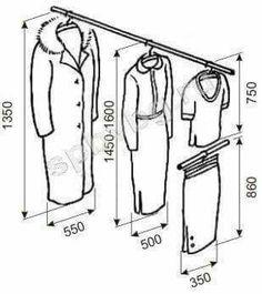 closet size useful for design wardrobe Walk In Wardrobe, Bedroom Wardrobe, Wardrobe Design, Master Closet, Closet Bedroom, Closet Space, Closet Storage, Closet Organization, Wardrobe Dimensions