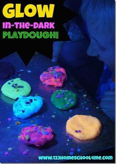 Glow in the dark playdough